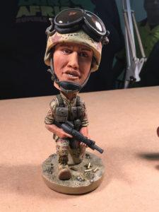 Jerry Fraske's bobble-head soldier